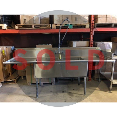 USED - Magnum Double Compartment Sink