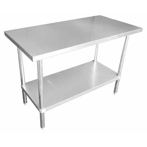 Stainless Steel Table w/Galvanized Undershelf