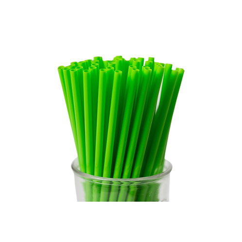 "4.5"" Fat Green Straw"