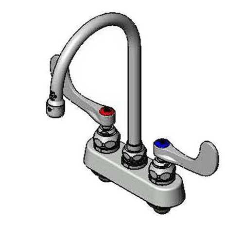"""Deck Mount Faucet w/ 5"""" Gooseneck Faucet"""