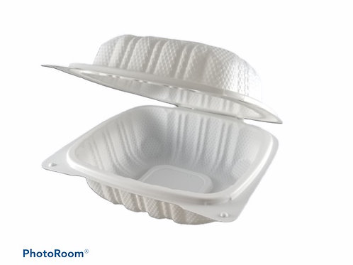"""Take-Out Container - 6"""" x 6"""" Clam Shell"""