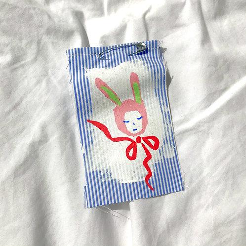 Stripe Bunny Pin