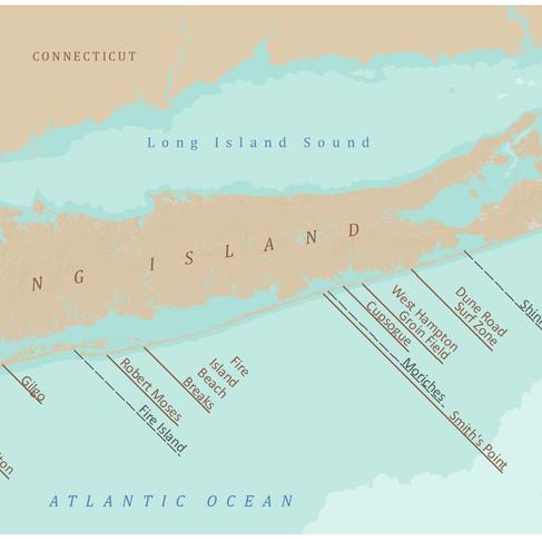 Long Island Surf Map