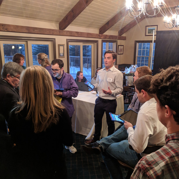 Teaching our staff how to use tonights auction software