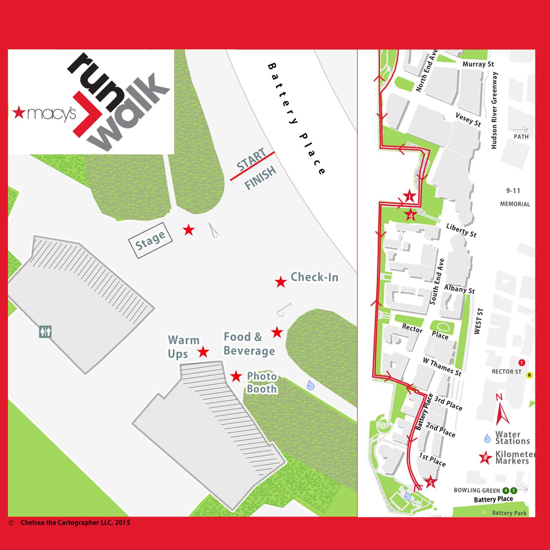 Macy*s 5K Event Map