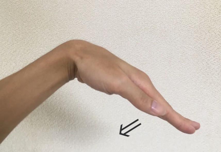 手のストレッチ方法②
