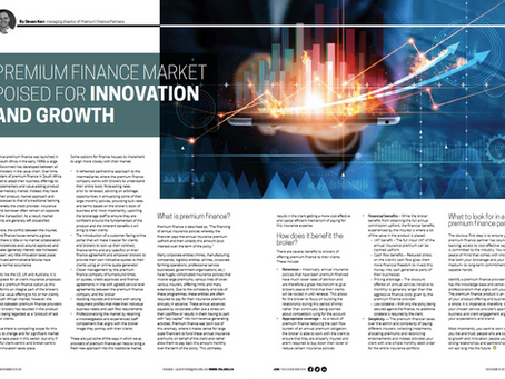 Premium Finance Innovation - FIA Insights magazine