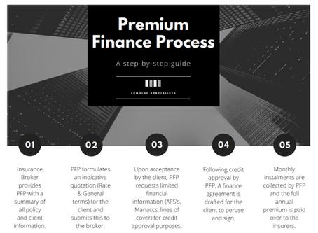 The Premium Finance Process explained