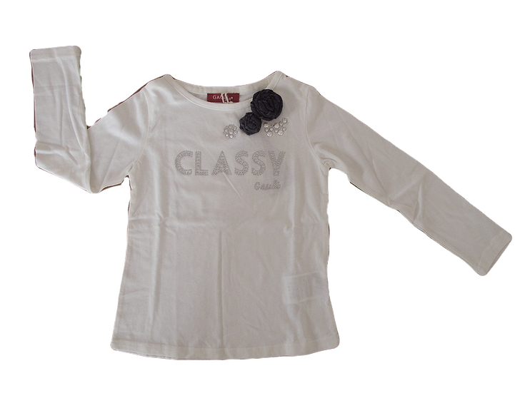 T-SHIRT IN COTONE CON STRASS GAUDI'
