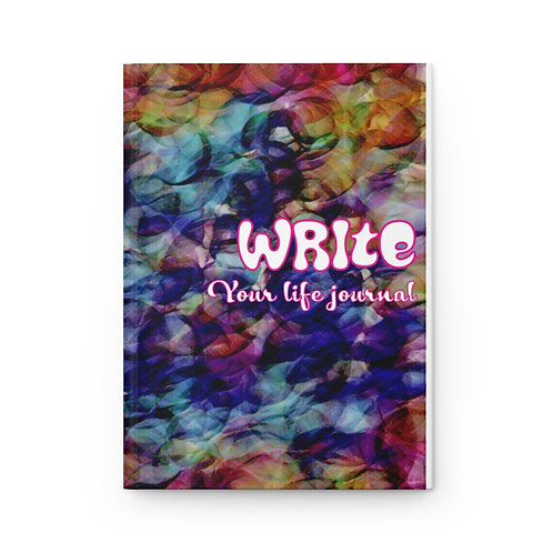 Hardcover Write Your Life Journal Matte Bubbles