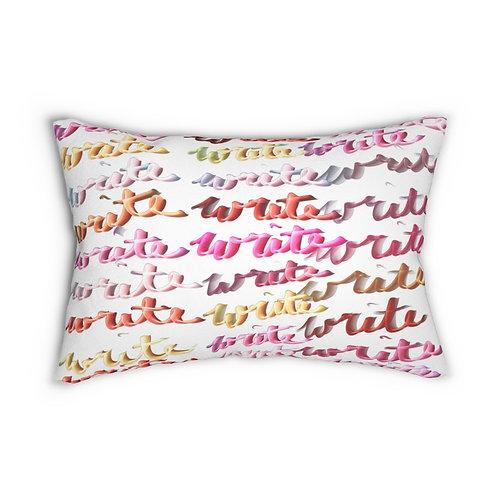 Spun Polyester Lumbar Pillow Write