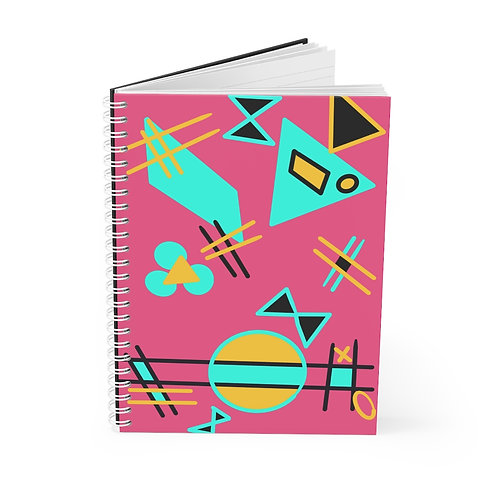 Magical Spiral Notebook Theme 1980s Bows