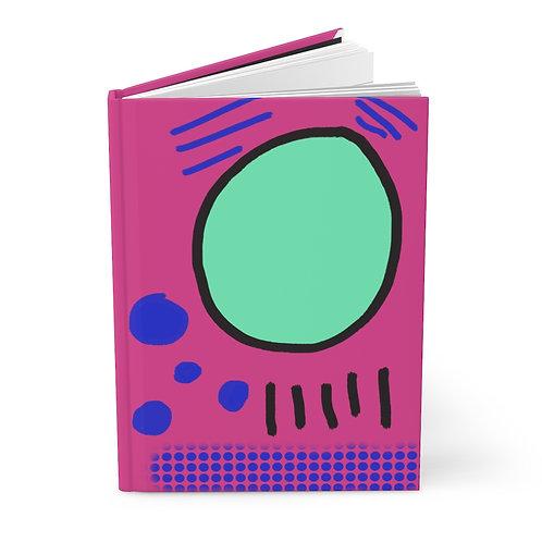 Hardcover Journal Matte 1980s Theme Wonder