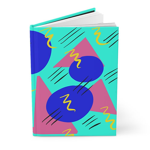 Hardcover Journal Matte 1980s Theme Play