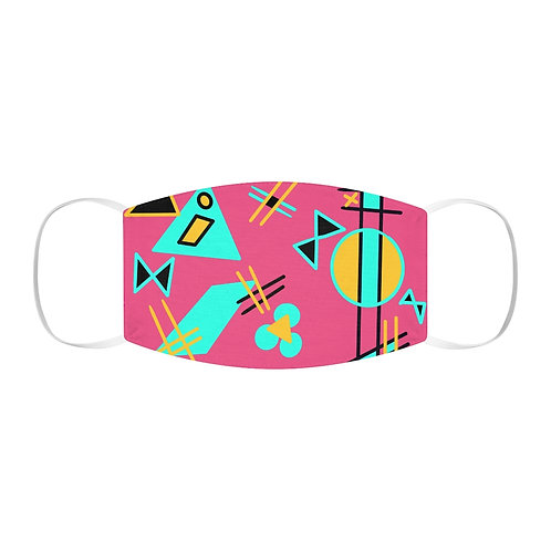 Snug-Fit Polyester Face Mask Theme 1980s Bows