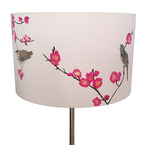 Oriental birds and cherry blossoms