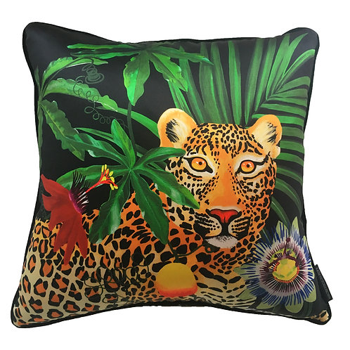 Fleurs de La Nuit, Leopard and Passion Fruit Cushion