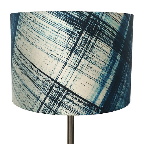 Abstract Carreaux en Bleu Lampshade