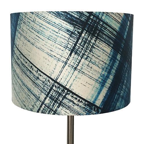 Abstract Check en Bleu Lampshade