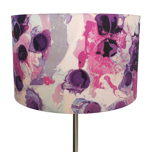 Inky Violet and Raspberry Pink Lampshade
