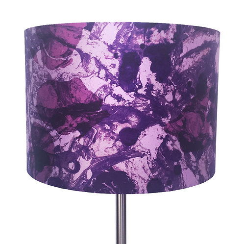 Violet and Lilac, with Raspberry Pink Marbling Lampshade