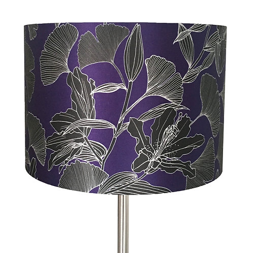 Oriental Lilies and Ginkgo Leaves Lampshade