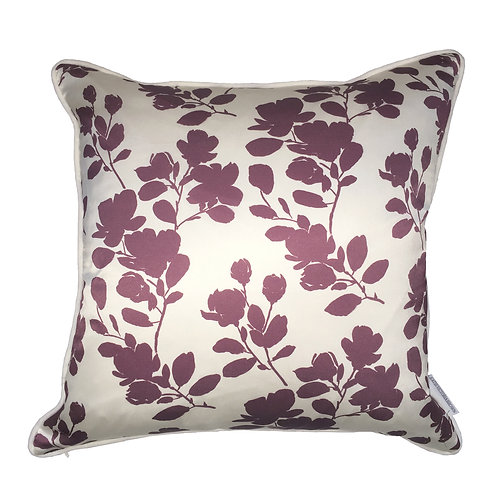 Plum Blossoms in Mauve Cushion