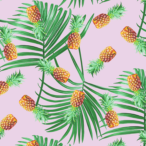 Palm and Pineapple Wallpaper