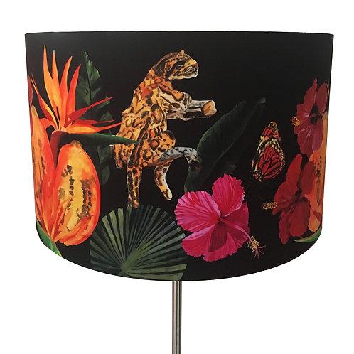 Fleurs de La Nuit, Papaya and Amazon Cat Lampshade