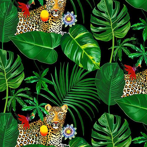 Fleurs de La Nuit, Palm Leopard Wallpaper
