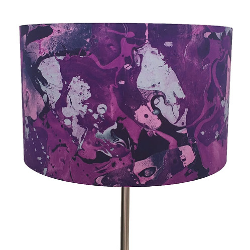 Pourpre et Rose Marbling Lampshade