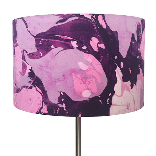 Pearly Pink and Dusty Lilac Lampshade