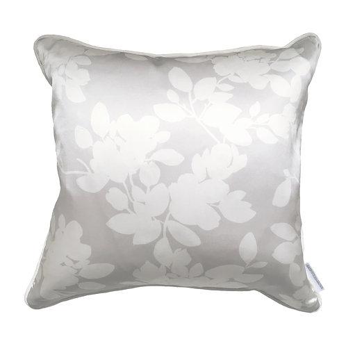 Dove White Blossoms Cushion