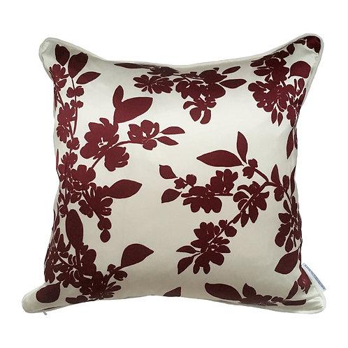 Burgundy Cherry Blossom Cushion