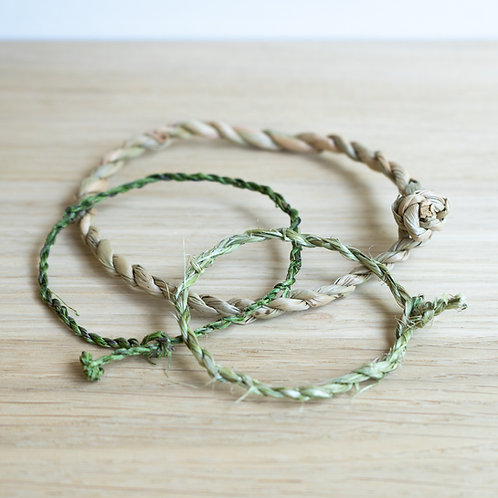 Bracelets from plant material