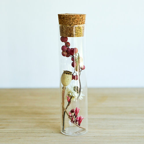 Organic dried flowers in glass tube # 2
