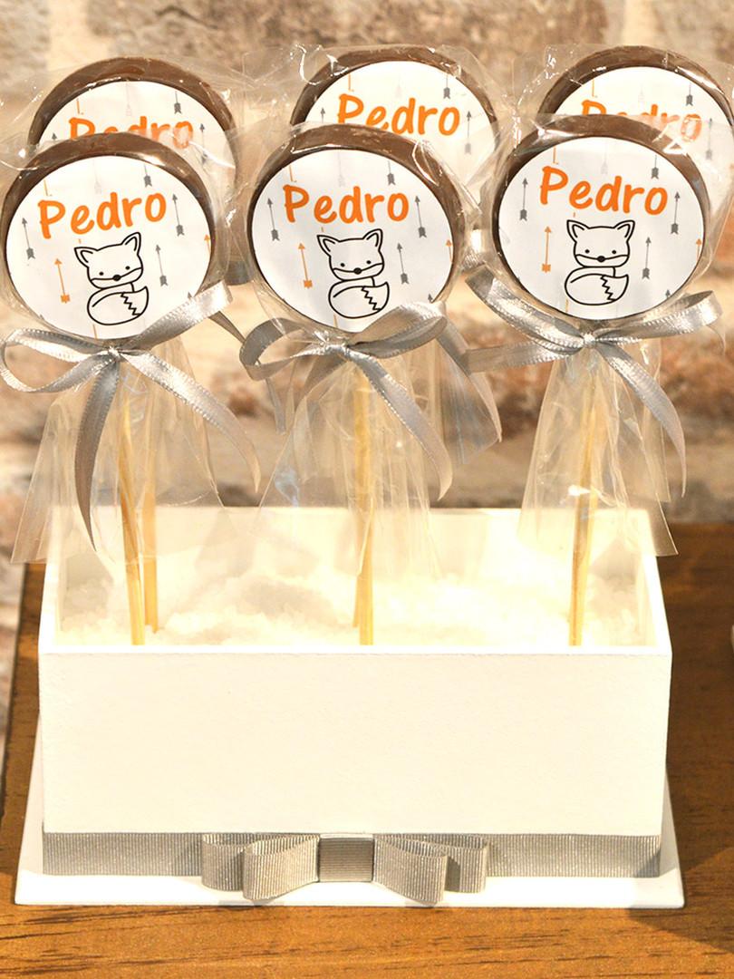 Pirulito de Chocolate + Caixa Porta Pirulito