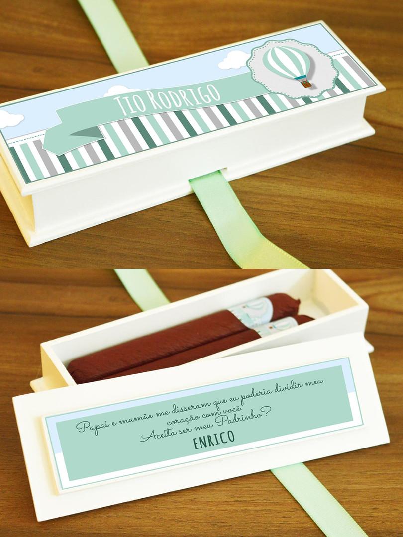 Caixa Mini-Elegance Slim com 2 Charutinhos Belga