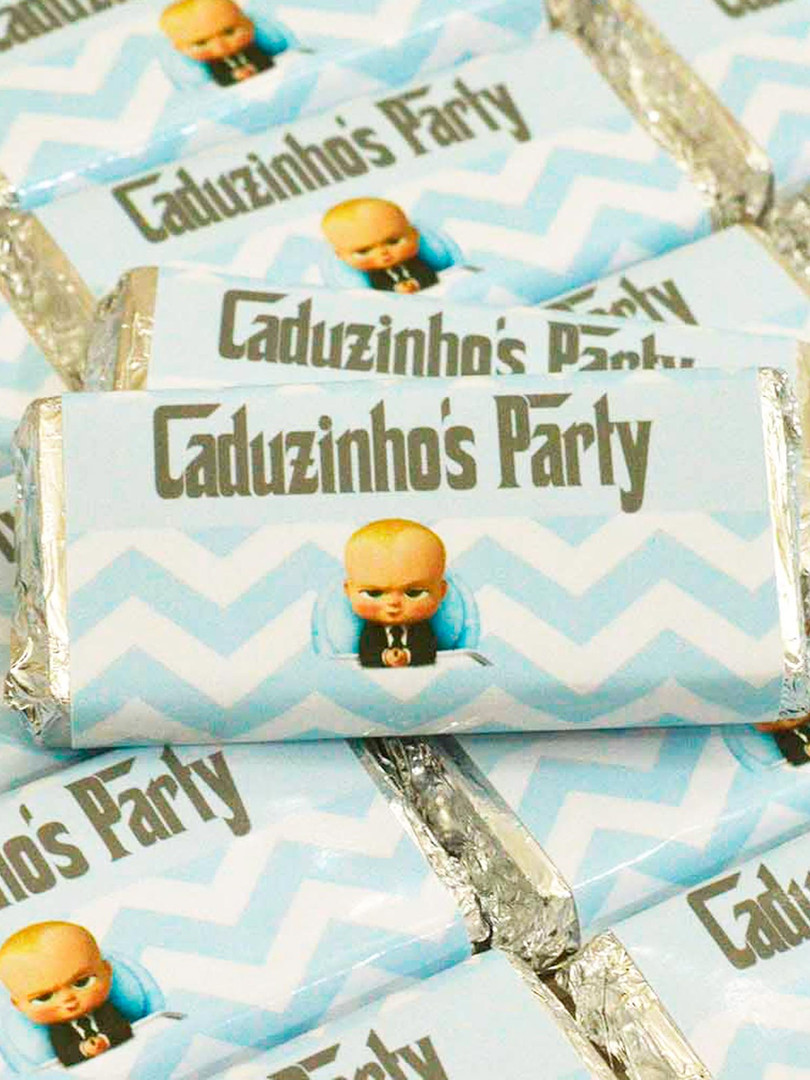 Barrinha de Chocolate Belga Personalizada