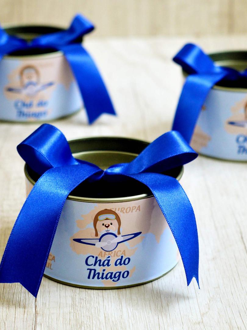 Lata Média + Laço Azul Royal