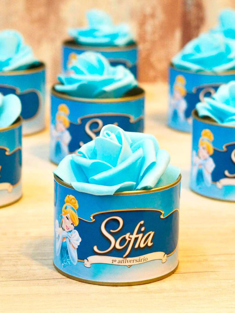 Latinha + Flor Azul