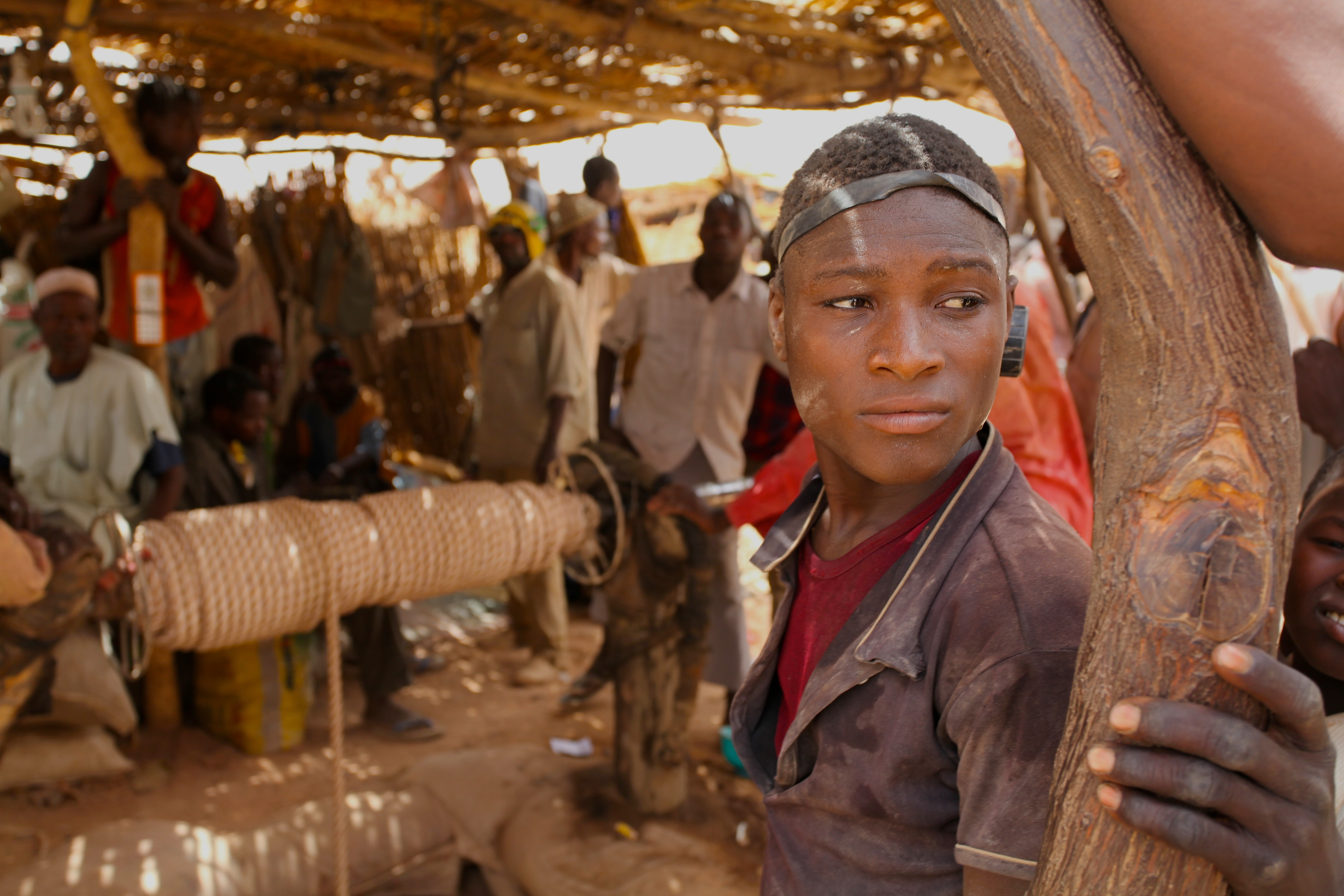 Niger Gold mine - boy portrait