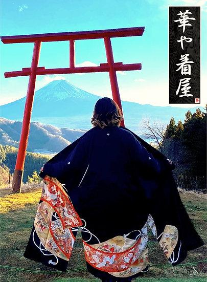 Black x Red Heian Emaki with Cranes