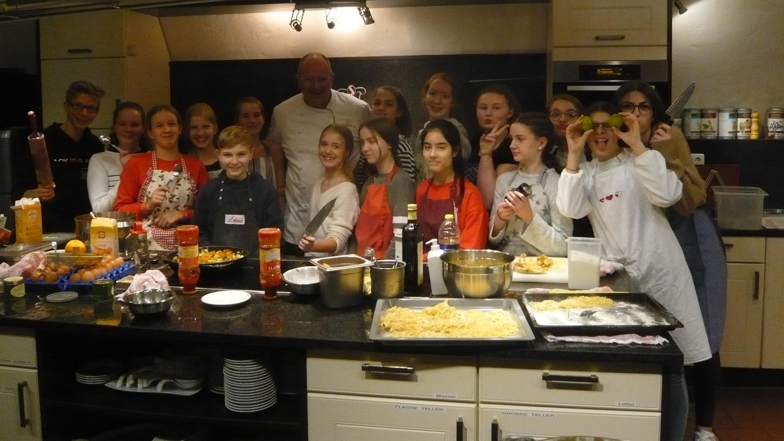 Gruppenbild mit Koch