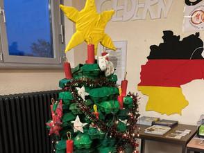 Alternativer Weihnachtsbaum der Gesamtschule Gedern