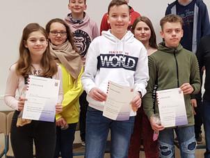 Ehrungsfeier am 31. Januar 2020 an der Gesamtschule Gedern  - besondere Leistungen wurden geehrt