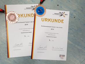 Gesamtschule Gedern belegt beim Bundesentscheid TANZEN IN DER SCHULE in Bad Kreuznach Platz 3 und Pl