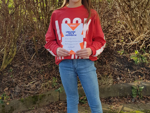 Kreisentscheid Wetterau-Nord am 31. Januar 2020 in Bad Nauheim – Schulsiegerin Sophia Weitzel aus de