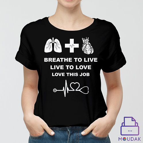 Breathe to live T-shirt