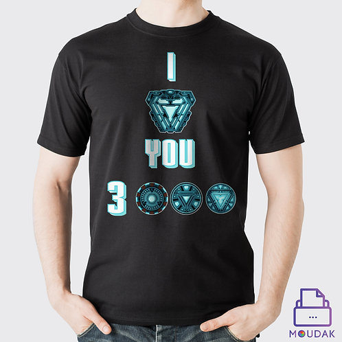 I love you 3000 Tshirt D:1